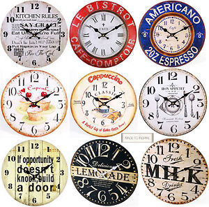 shabby chic large vintage rustic retro french wall clocks. Black Bedroom Furniture Sets. Home Design Ideas