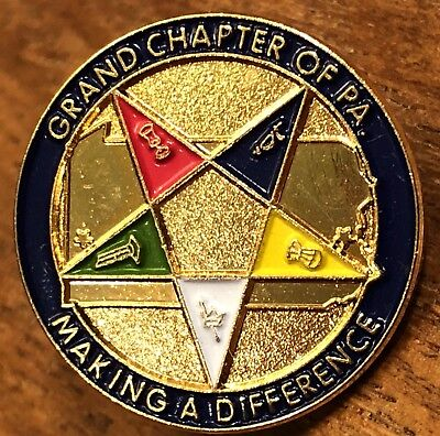 Vintage Eastern Star Grand Chapter Of PA Making A Difference Lapel Pin Pinback for sale  Shipping to Canada
