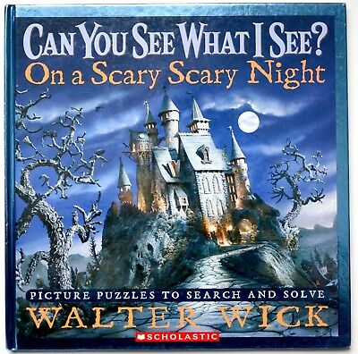 I spy book scary night can you see what I see Halloween gift kids puzzle - I Spy Books Halloween