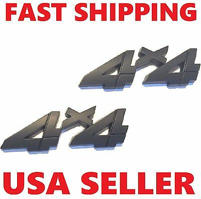 X2 Black 4 X 4 Smoked Emblem 4X4 Car Truck Lincoln Saturn Ram Logo Sign Badge