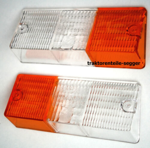 2  Gläser Lampengläser für  Positionsleuchten Deutz 06 Serie  links + rechts  Foto 1