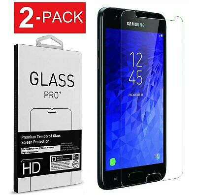 2x For Samsung Galaxy J7 2018/Refine/Star/Crown Tempered Glass Screen Protector Cell Phone Accessories