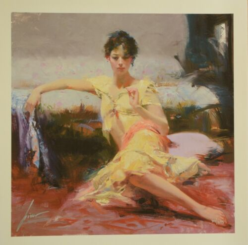 """Pino Daeni """"parisian Girl"""" Giclee On Paper W/coa,  Signed Andnumbered, Last One!"""