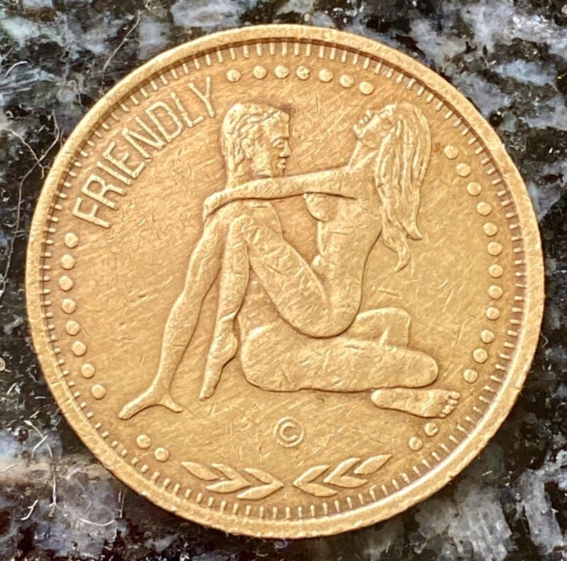 CONNECT WITH A LEO ♌️ FRIENDLY • ASTROLOGICAL SEX TOKEN • VINTAGE NOVELTY COIN