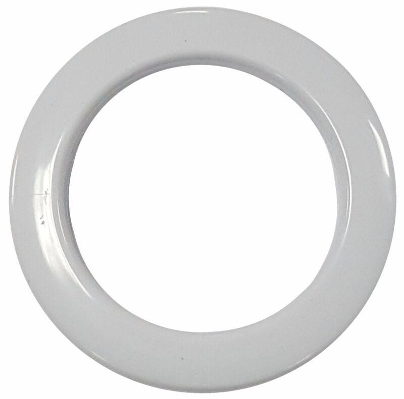 MICRON WHITE PLASTIC-ROUND CURTAIN GROMMET; PLAIN WASHER  #15 (50mm) (12pcs)