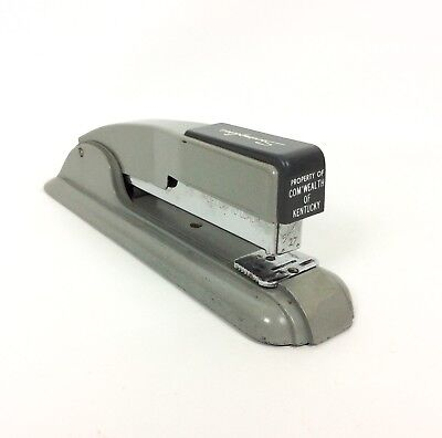 Swingline Stapler No 27 Commonwealth Kentucky Gray Vtg Mid Century Made In Usa