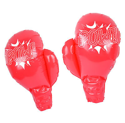Inflatable Boxing Gloves - Novelty Joke Kids Prize Prop Blow Up Party - Blow Up Boxing