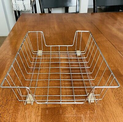 Vintage Wire Metal Desk Basket Paper Tray In Out Files Letter Mail Office