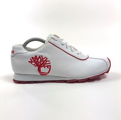 Timberland Metro Slim Womens White Red Low Shoes Sneakers Size 11 Retro -