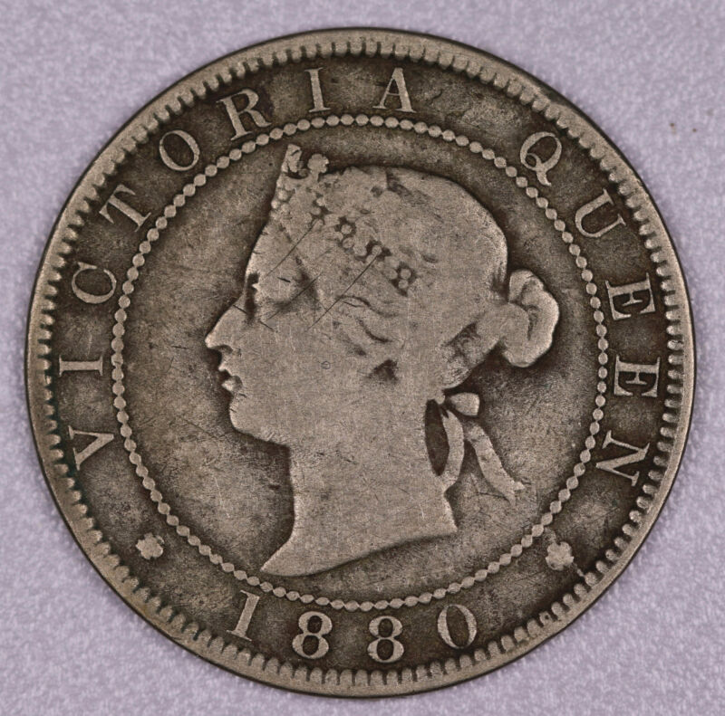 1880 JAMAICA PENNY COIN VERY GOOD+ #FC062009ZB