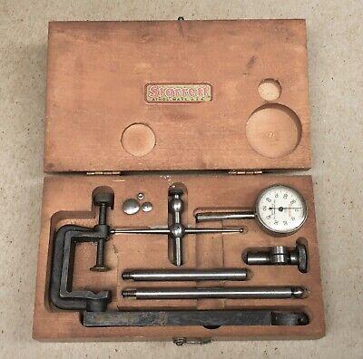 Fine Starrett No.196 Dial Indicator Set With Box.