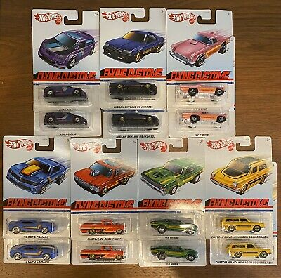 2020 Hot Wheels Flying Customs Skyline Nova Volkswagen Luv Camaro T-Bird LOT/14