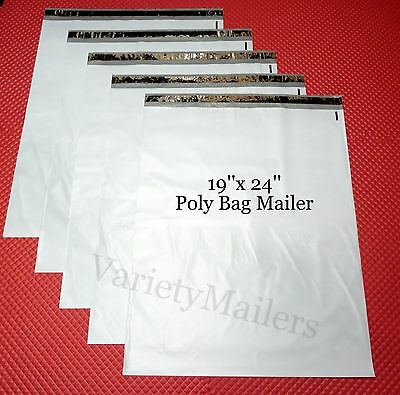 5 Large 19x 24 Poly Bag Envelopes Plastic Shipping Mailing Postal Mailers