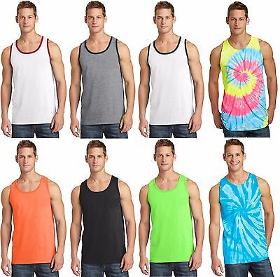 New Men's Tank Top Muscle Workout T-Shirt Tie Dye Dyed Died Two Tone Sleeveless - Muscle T Shirts