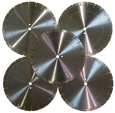 5pk-14 14mm Seg Concrete Brick Block Paver Limestone Diamond Saw Blade -best