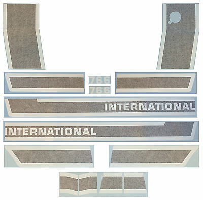 International 766 Black Stripe Vinyl Decal Set