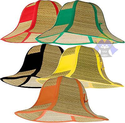 CAPPELLO Pieghevole in PAGLIA da Uomo Donna UNISEX Spiaggia ESTIVO Straw Hat Cap