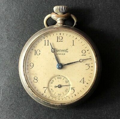Vintage Ingersoll Yankee Pocket Watch - UNTESTED AS IS - Not Currently Working