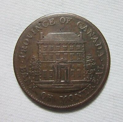 Canada  Bank Of Montreal  1 2 Penny Token  1844