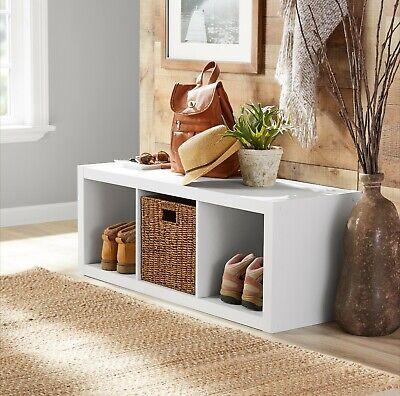 Better Homes & Gardens 3-Cube Storage Organizer in White
