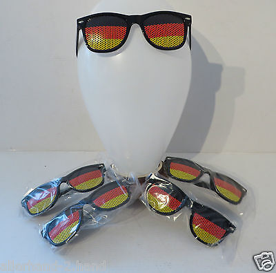 SONDERPREIS ° 5 Stk. Sport Fanbrille DEUTSCHLAND SONNENBRILLE Brille Fussball WM
