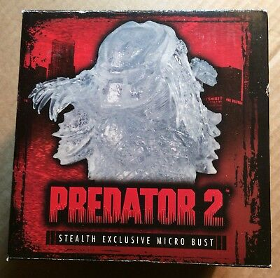 Aliens, Avp Palisades Predator 2 Stealth Exclusive Micro Bust Limited Edition Of 500