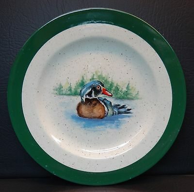 Backsplash Wood Duck Salad Accent Plate Julie Ueland Art Ensco Group