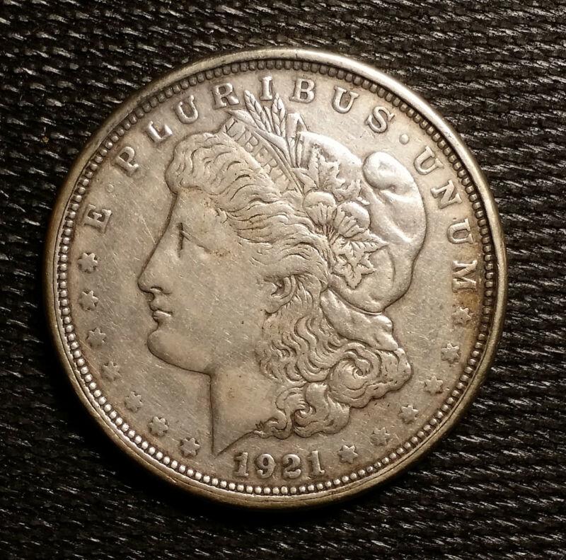 1921 Morgan Encased Dollar; Biggest Little City In The World, Reno