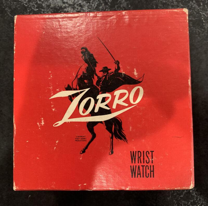1959 INGERSOLL ZORRO WATCH STILL SHRINK WRAPED IN SOMBRERO MIB!