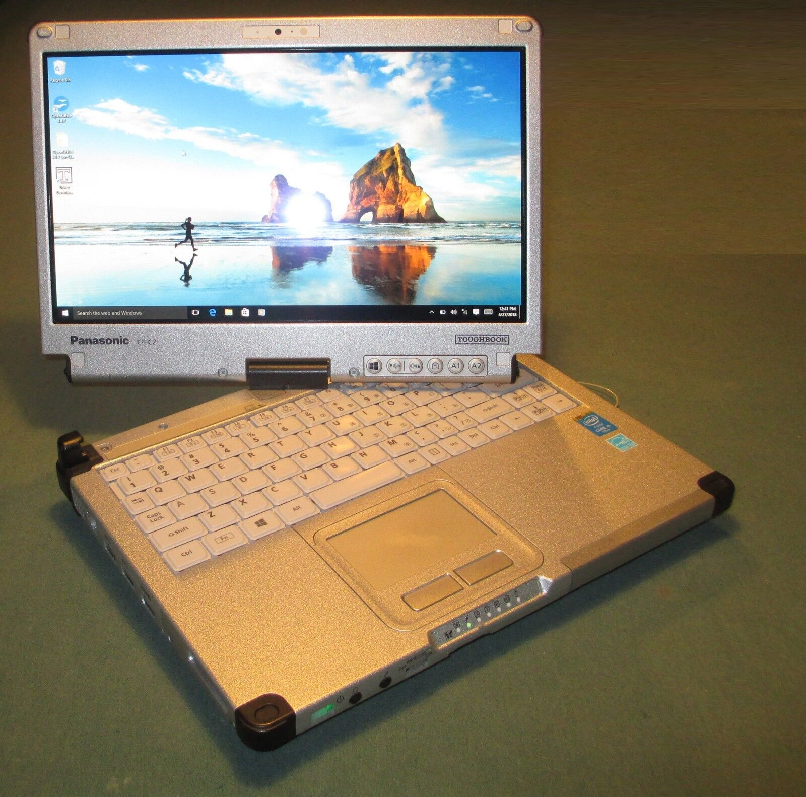 Panasonic ToughBook CF-C2 Intel i5-1.9Ghz 4GB 128GB SSD TouchScreen Missing key