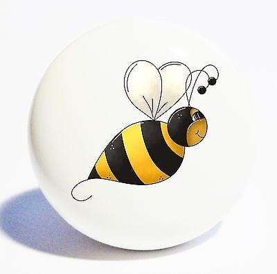 BUMBLE BEE HOME DECOR CERAMIC KITCHEN  KNOB DRAWER CABINET