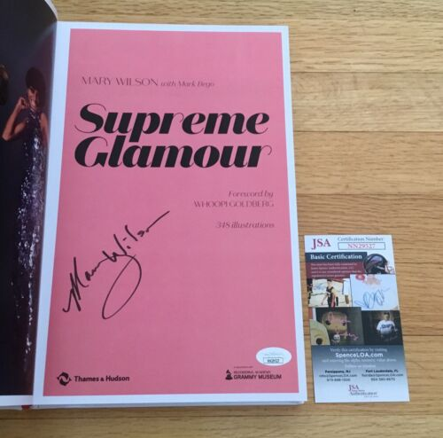 Mary Wilson The Supremes Motown Signed Autograph Supreme Glamour Book JSA COA