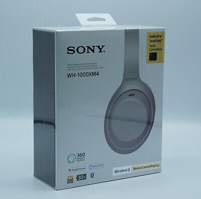 SONY WH-1000XM4 Noise Cancelling, Over-ear Kopfhörer Bluetooth Silber NEU OVP
