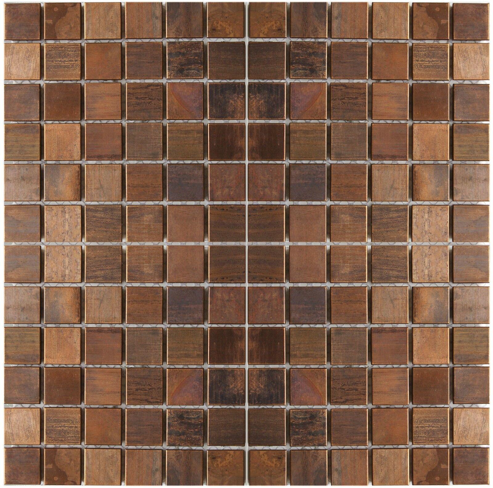 - Metal Mosaic Tile Brass Mill Gold 1 6mm Subway-bm For Sale Online