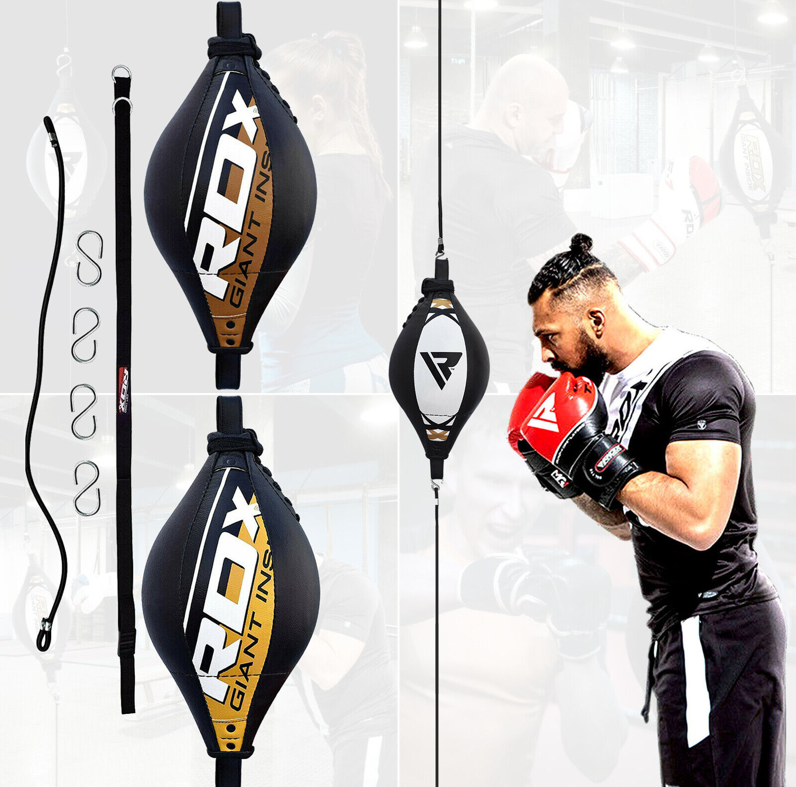 Pro Double End Boxing//MMA Speed Ball Floor to Ceiling Dodge Punch//Speed Ball Kit