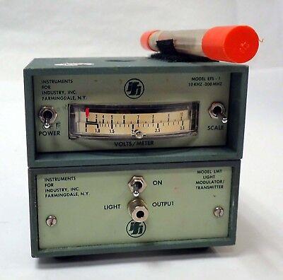 Ifi Efs-1 E-field Sensor With Lmt Light Modulator Transmitter Antennas Cable