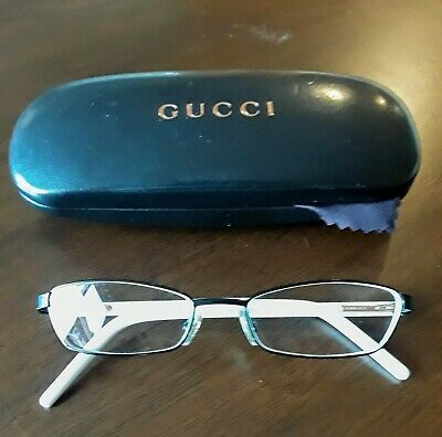 GUCCI vintage frames Eyeglasses GG 2733 23N 135 Spring Hinge Black/White