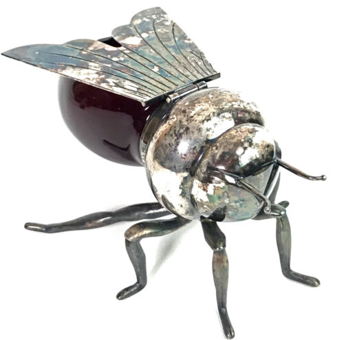Vintage Silver Plated Bumble Bee Honey Pot Iron Gate Irongate Products