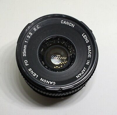 Canon Macro Lens 35mm, f/3.5, 1:3.5, Photo Camera Picture