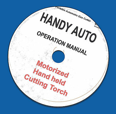 Koike Handy Auto Motorized Cutting Torch Owner Op Manual On Cd-rom