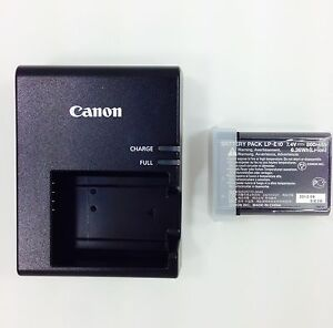 Genuine Canon Rebel T3 Camera Battery w/Charger Combo LP-E10 7.4V (Li-ion)