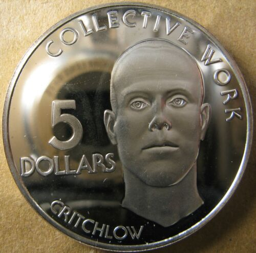 GUYANA 1976 5 Dollars KM 43a Franklin Mint Large Brilliant Cameo Silver Proof