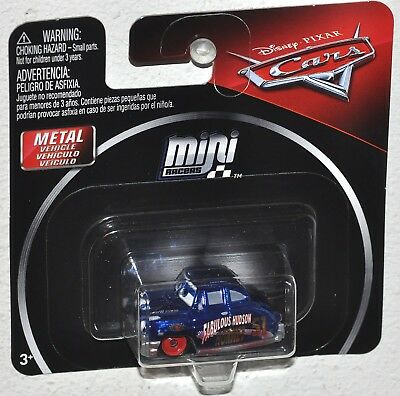 Disney's Pixar Cars 3 Mini Racers Metallic Dirt Track Fabulous Hudson Hornet NEW