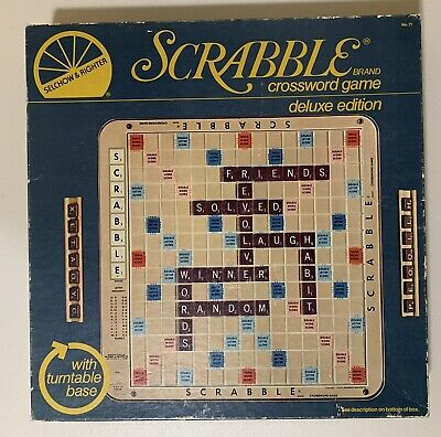 Selchow & Righter SCRABBLE Crossword Game Deluxe Edition Parker Brothers Hasbro