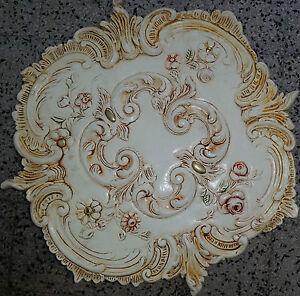Rosone in gesso decorato a mano dia.52 cm Art. D 311 de.cor.interni da soffit...