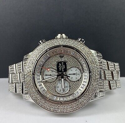 Breitling Super Avenger 48mm 25ct Fully Iced Out with Diamonds Mens Watch A13370