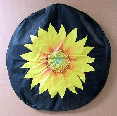 Holland Bar Stool (Holland Bar Stool Tire Covers - 29 inch Diameter Sunflower / Smiley Face 2 Pack)