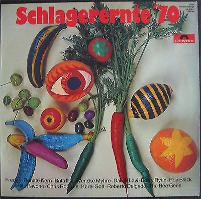 VA, Schlagerernte '70, Kern Black Gott Myhre Lavi Pavone Ryan, VG+/EX  LP (6920)