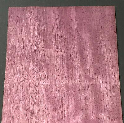 Purpleheart Wood Veneer Sheet 6.5 X 30 Inches 142nd Thick   Mar7636-41