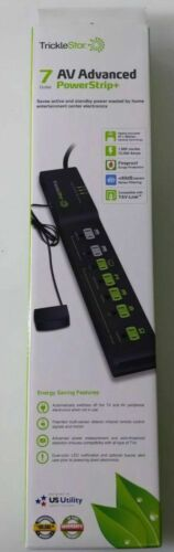 TrickleStar 7 Outlet AV Advanced Power Strip, Energy Saving Auto Shut off TS1810